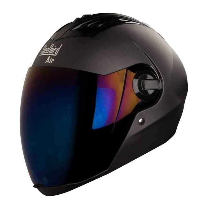 Steelbird SBA-2 Supreme Black Full Face Helmet, Size (Large, 600 mm)