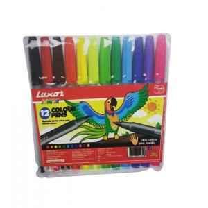 Luxor 920 Colour Pens 12 Pcs Set