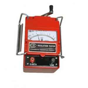 CIE 444 Hand Driven Generator Type Insulation Tester, 500 V, 0-100 Ohm