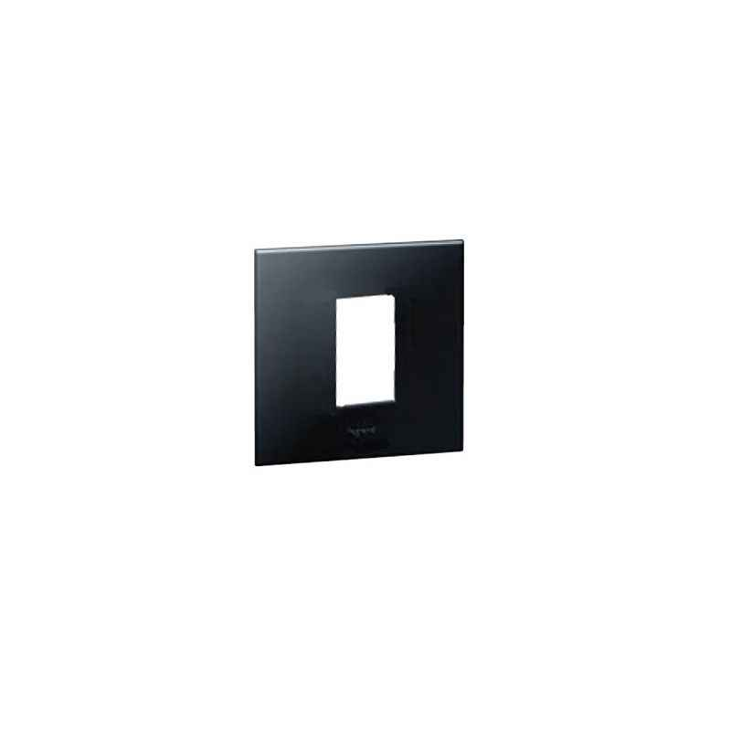 Legrand Arteor 1 Module Graphite Square Cover Plate With Frame, 5757 02 (Pack of 10)