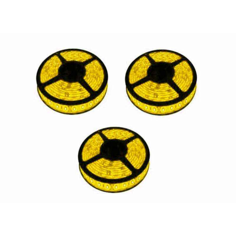 VRCT 3W Yellow LED Strip Lights With Adaptor, DL-616 (Pack of 3)