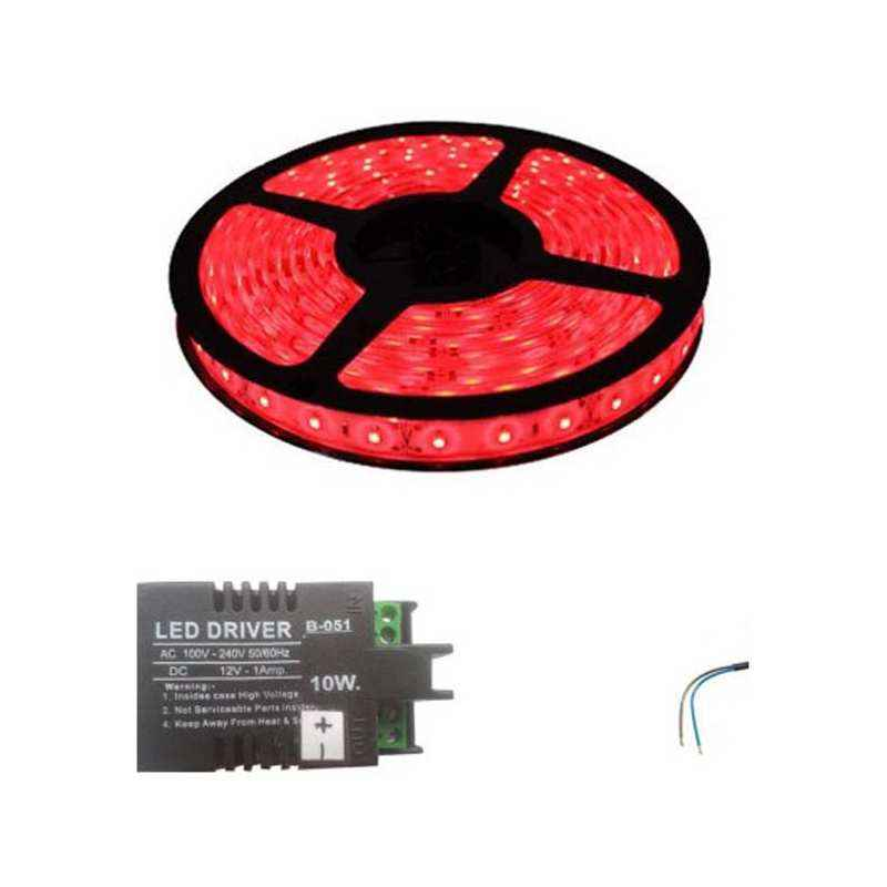 VRCT 3W Red Decorative Wall LED Strip Light with Adaptor, DL-583