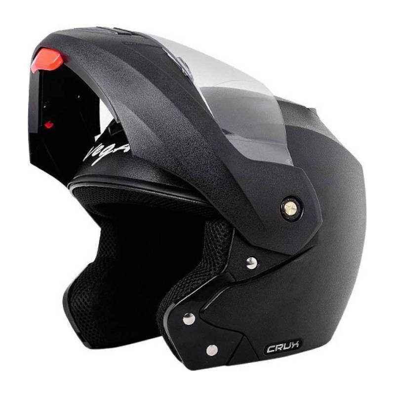 Vega Crux Black Flip up Helmet, Size: S