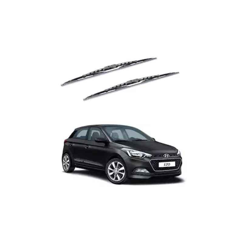 Hella WB-BK-061 Premium Black Wiper Blade Set For Hyundai Grand i20