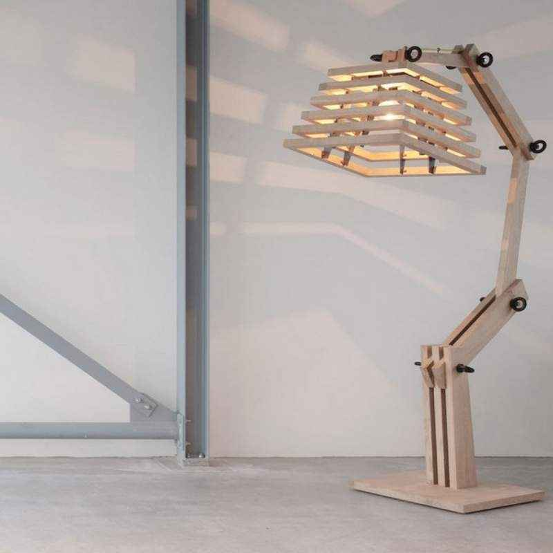 The Brighter Side Robbie Wooden Table Lamp