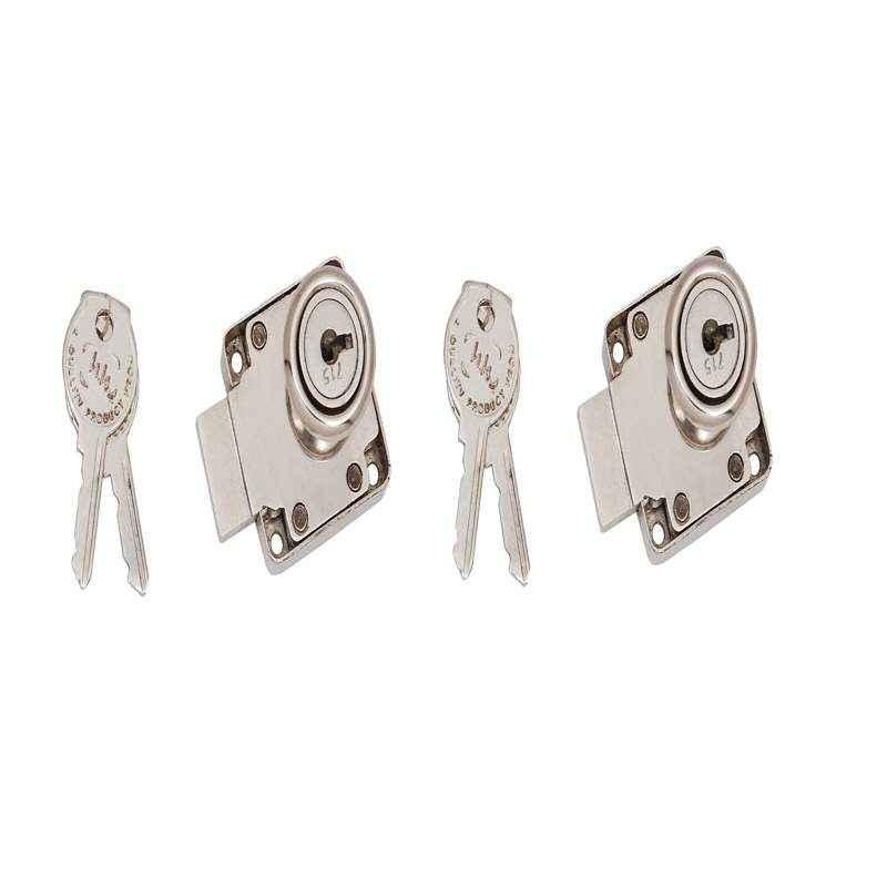 SmartShophar 30mm Zinc Gold Silver Harey Multipurpose Locks, 54208-MPLH-GS30-P2 (Pack of 2)
