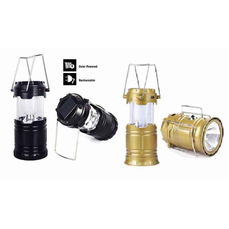 Homepro Combo of Golden & Black Solar Rechargeable Lantern