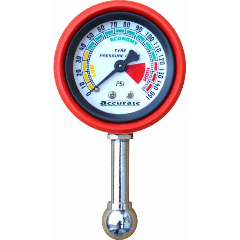 Axtry Small Tyre Pressure Gauge with Rubber Casing
