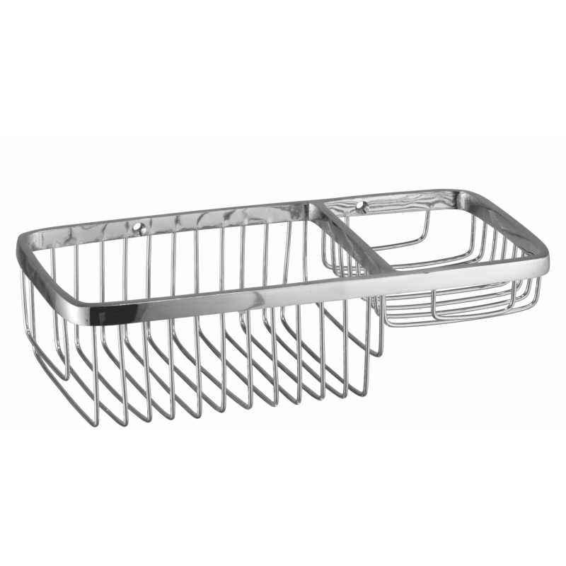 Kamal Wire Basket Straight 10 Inch (W/Soap Holder), ACC-1196