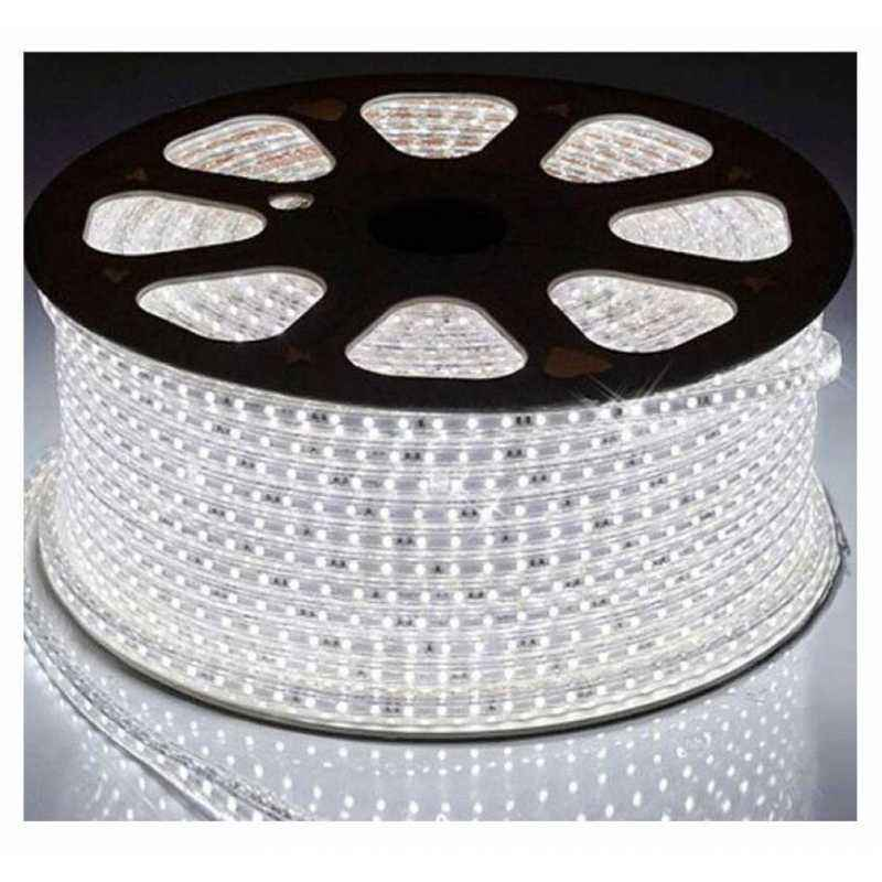 VRCT Classical 19.6m White Waterproof SMD Strip Light with Adaptor, WhiteSMD 19.6