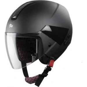 Steelbird SBH-5 Black Open Face Helmet, Size (Medium, 580 mm)