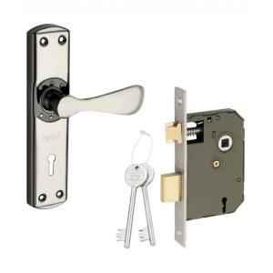 Sardar Brezza 7 Inch Grey Stainless Steel Mortise Door Lock Set