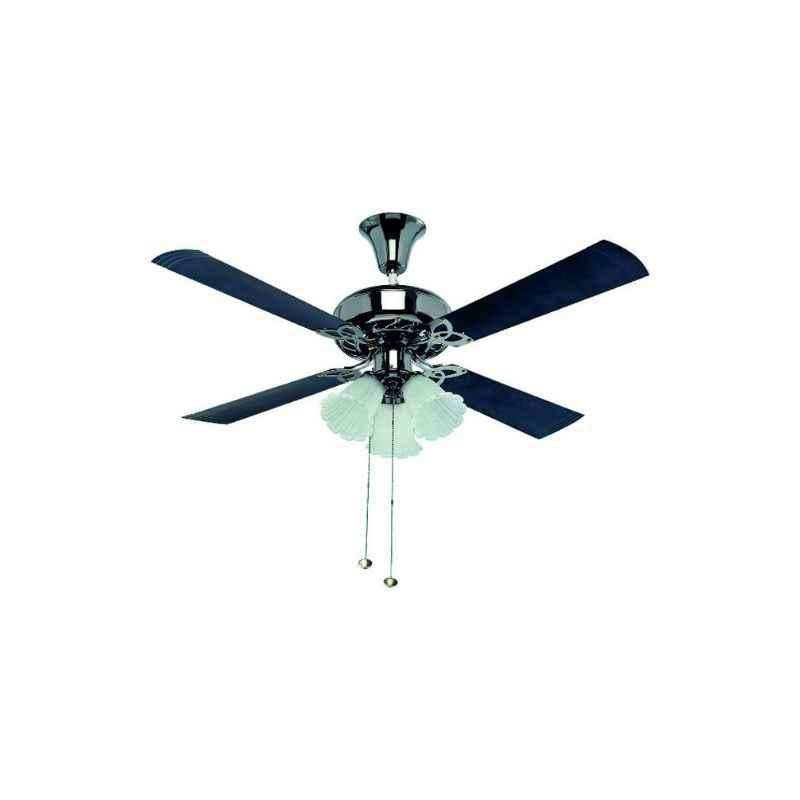 Crompton 72W Uranus Black Silver Under Light Ceiling Fan, Sweep: 1200 mm