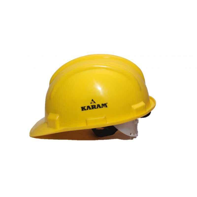 Karam Yellow Ratchet Safety Helmets, PN-521 (Pack of 10)