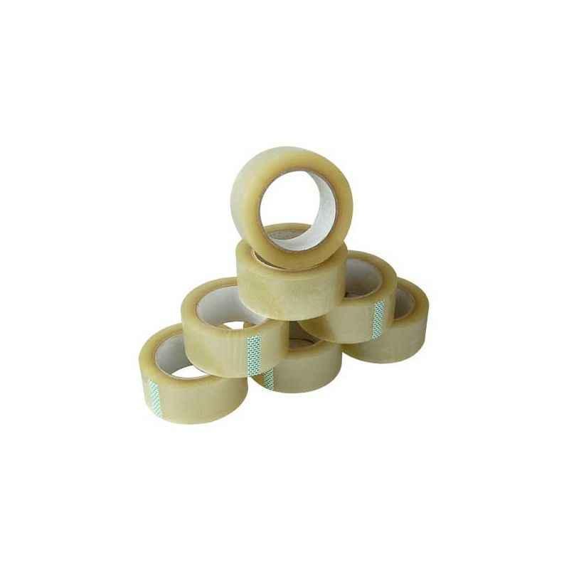 Elisha 18mm Transparent High Gum Tape, Length: 55m (Pack of 8)