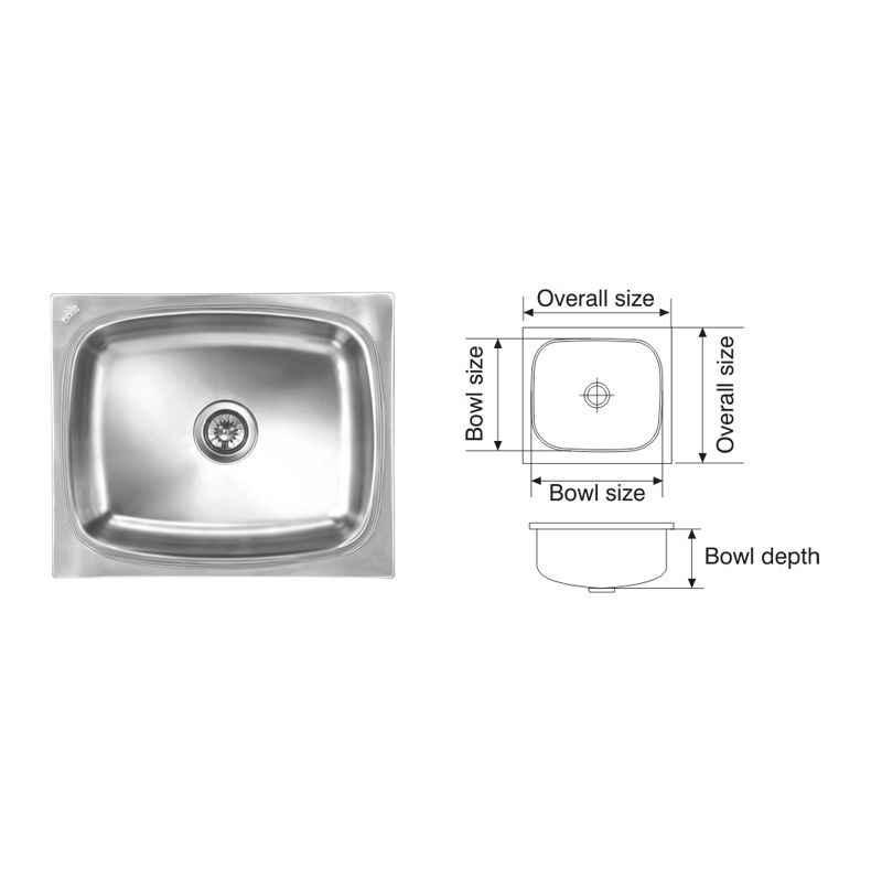 Nirali Grace Deluxe Glossy Finish Kitchen Sink, Size: 610x510 mm