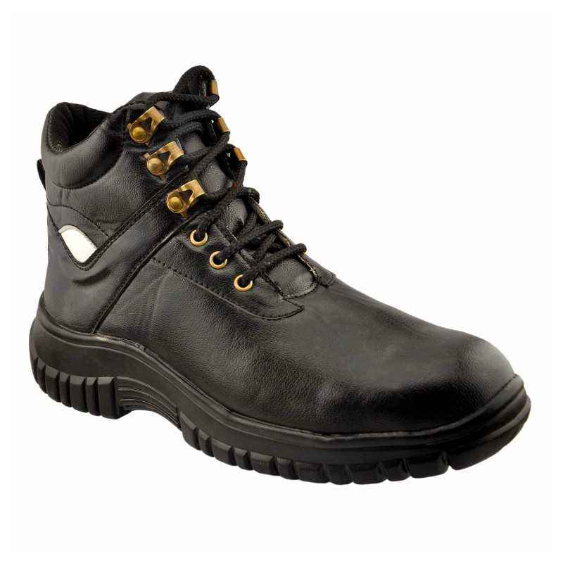 mBold 66 Steel Toe Black Safety Shoes, Size: 9