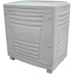 Microtek White Tall Tubular Trolley for Inverter and Battery, Weight: 4 kg