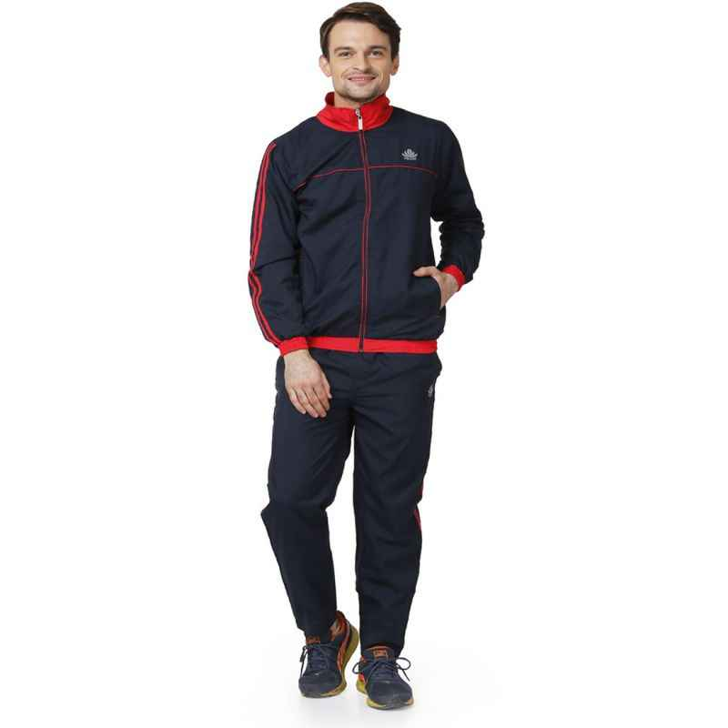 Abloom 114 Navy Blue & Red Tracksuit, Size: XXL