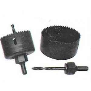 GE Tech Single PC Holesaw With Arbor, (Size: 75 mm)