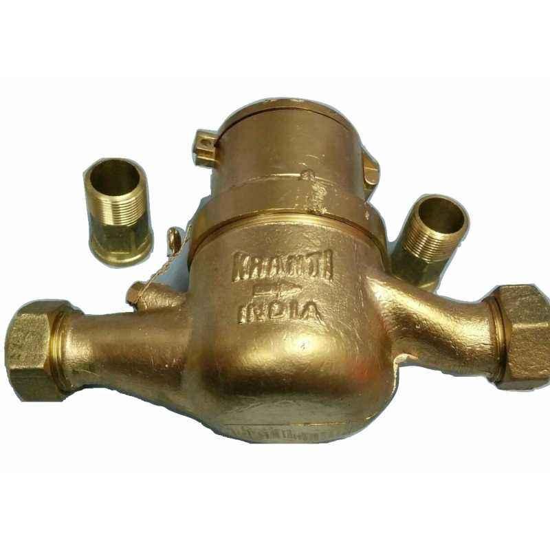 Kranti Multi Jet Water Meter, MTC-66, Size: 20 mm
