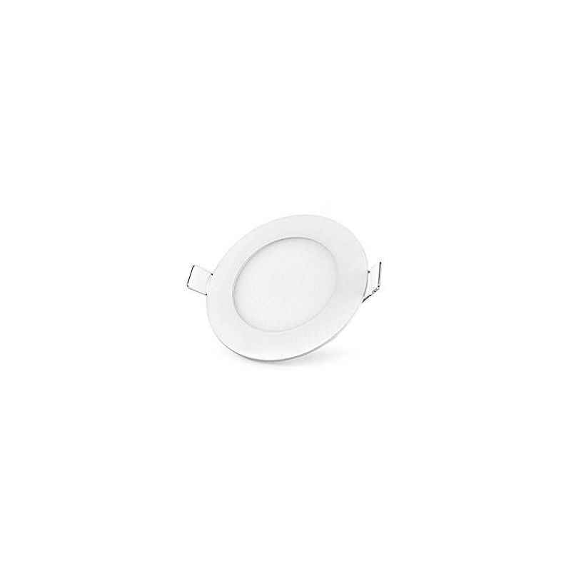 Riflection 3W White Round LED Slim Panel Light (Pack of 2)