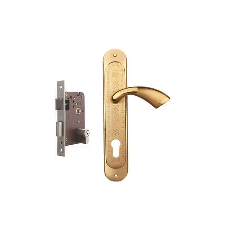 Plaza Super Stainless Steel Finish Handle with 200mm Pin Cylinder Mortice Lock & 3 Keys