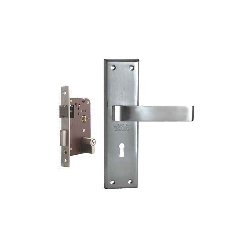 Plaza Vitara Stainless Steel Finish Handle with 200mm Pin Cylinder Mortice Lock & 3 Keys