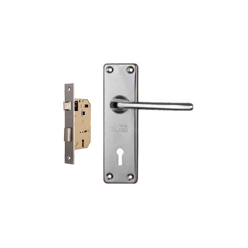 Plaza Oxford Chrome Plated Handle with 65mm Mortice Lock & 3 Keys