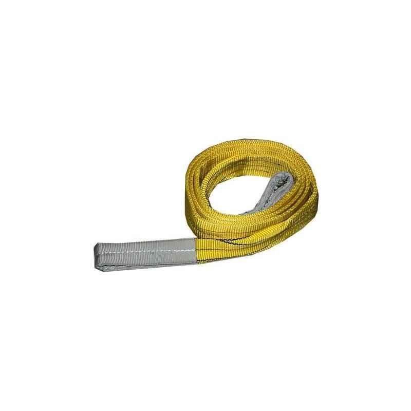 Ferreterro 3 Ton 1m Yellow Double Ply Flat Polyester Webbing Sling