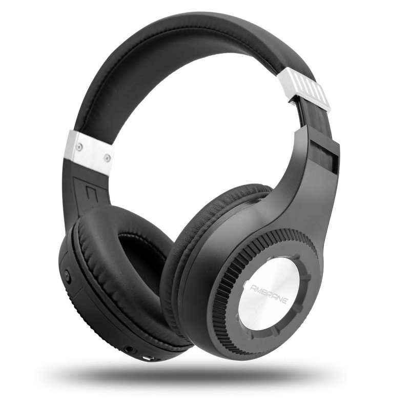 Ambrane WH-2100 Black Wireless Bluetooth Headphones with Mic