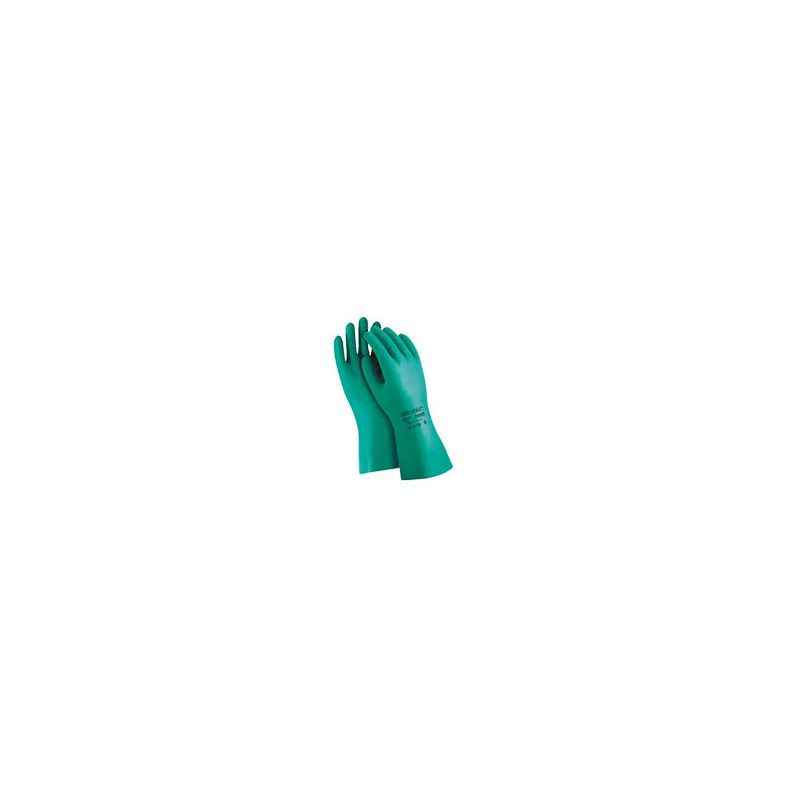 Ansell Green Solvex Nitrile Chemical Hand Gloves (Pack of 15)