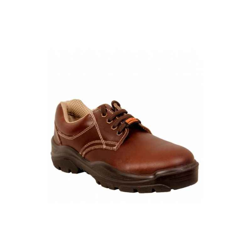 Acme AP-27 Sodium Steel Toe Low Ankle Brown Safety Shoes, Size: 9