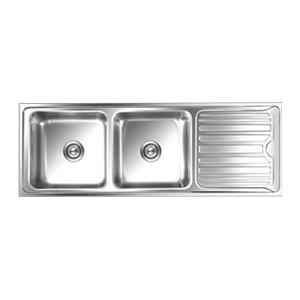 Nirali Luxor Anti Scratch Finish Kitchen Sink, Size: 1370x510 mm