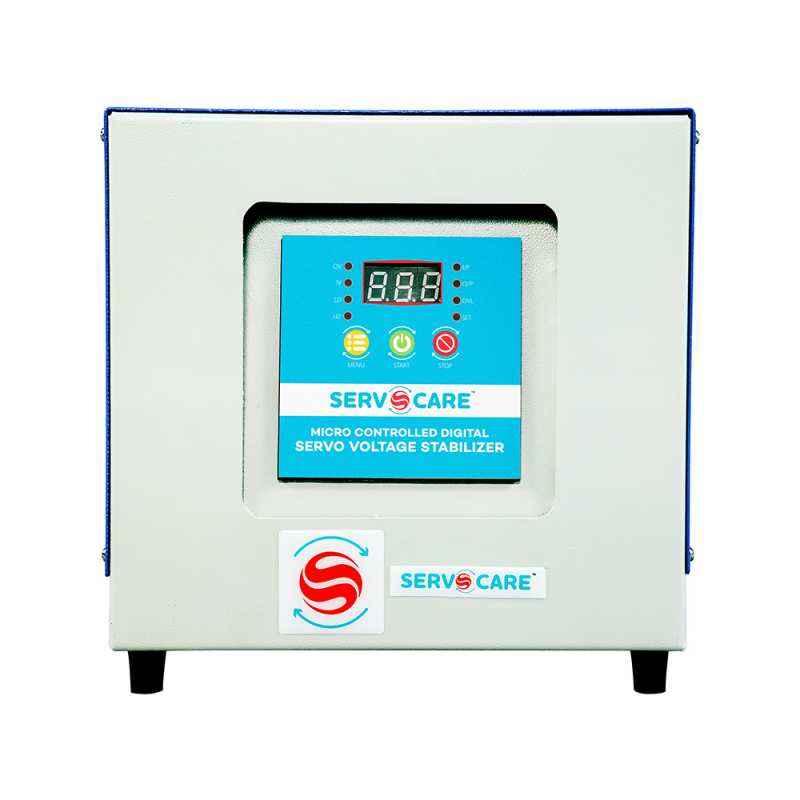 Servocare 5kVA Single Phase Air Cooled Servo Controlled Voltage Stabilizer