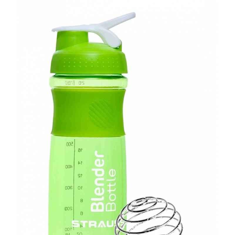 Strauss Acrylic Plastic Green Blender Shaker Bottle, Capacity: 760 ml