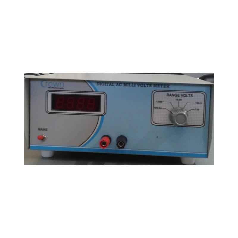 Crown 3 Digit Digital AC Mill Volt Meter, CES 208