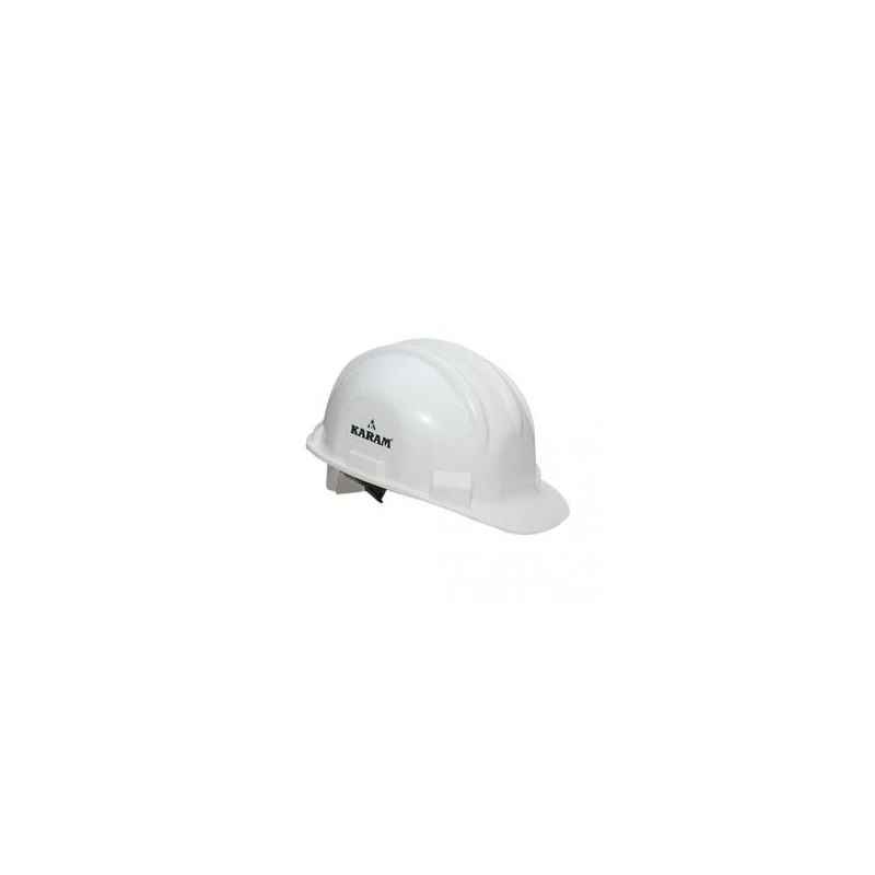 Karam White Safety Helmets with Plastic Cradle, PN 501 (Pack of 10)