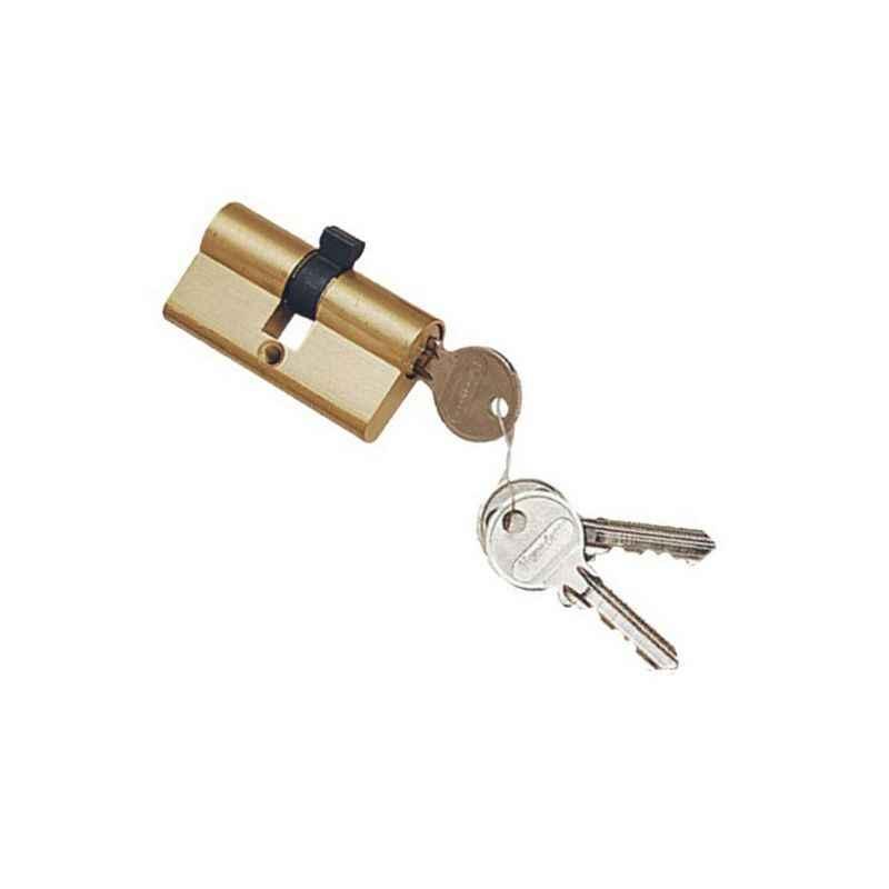 Smart Shophar 60mm Steel Brass Finish Nickel silver Cylinder Lock, 50832-BCLBF