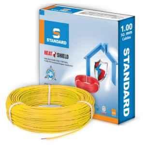 Standard 1.5 Sq mm 90m Yellow PVC FR Wire, WSFFDNYA11X5