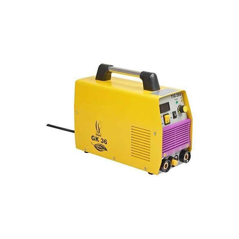 GK 36 TIG200 Single Phase Yellow Welding Machine with Accessories