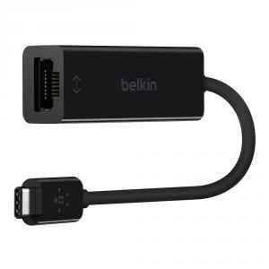 Belkin Black Type C to RJ-45 Ethernet USB Cable, F2CU040BTBLK
