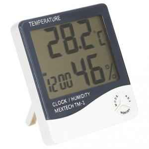 Mextech TM-1 Thermo Hygro Digital Humidity Temperature Time Meter
