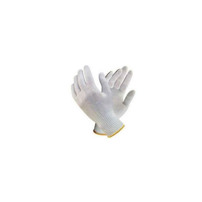 Nova Safe Cotton Knitted Hand Gloves, 25-35 g (Pack of 10)