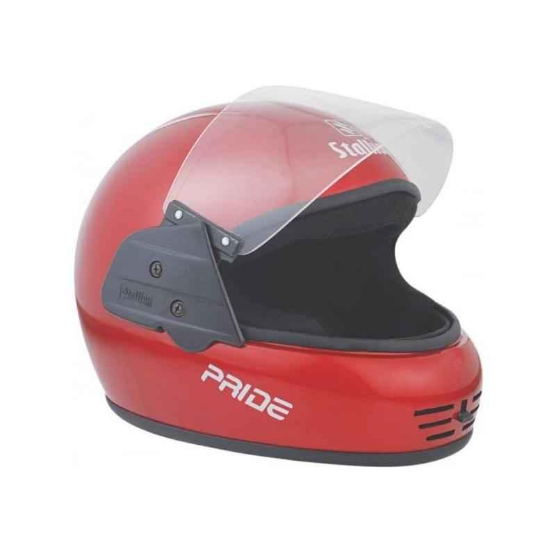 Stallion BLK Pride Full Face Red Motorbike Helmet, Size: M