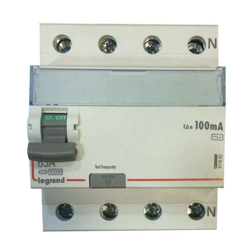Legrand 63A DX³ 4 Pole RCCBs for AC Applications, 4118 83