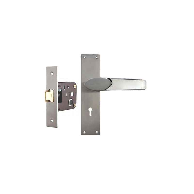 Plaza Verna Stainless Steel Finish Handle with 200mm Baby Latch Keyless Lock