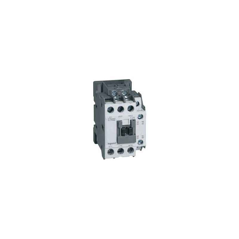 Legrand 3 Pole Contactors CTX³ 22 Integrated Auxiliary Contacts 1 NO + 1 NC, 4160 80