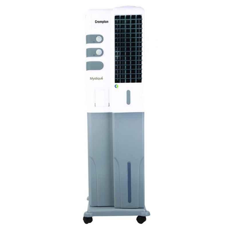 Crompton Mystique Dlx 34 Litre White & Grey Tower Cooler