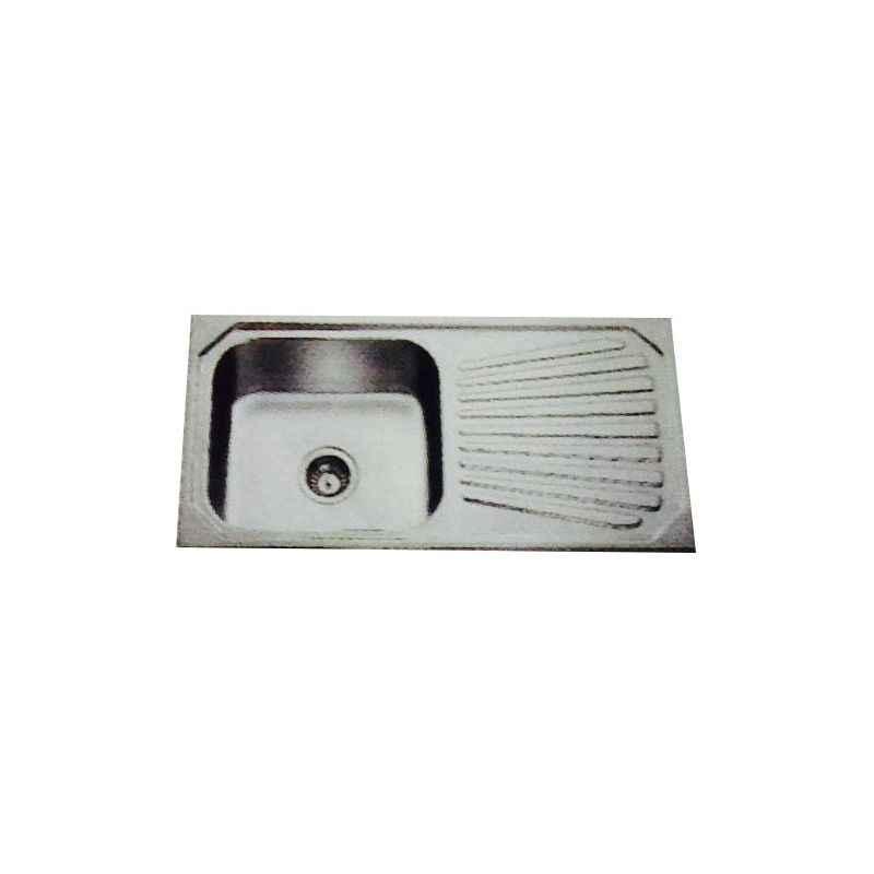 Jayna Jupiter SBSD 02 Anti-Scratch Sink With Drain Board, Size: 37 x 18.5 in